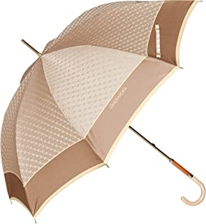 [ゲラルディーニ] AURORA(オーロラ) 1GD 11001-01Gロゴジャカード先染め手開き長傘(日本製) レディース