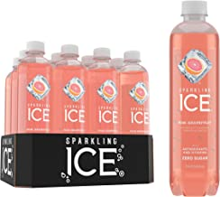Sparkling Ice, Pink Grapefruit Sparkling Water, with antioxidants and vitamins, Zero Sugar, 17 FL OZ Bottles (Pack of 12)