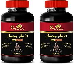 Muscle Builder and Fat Burner - Amino ACIDS 1000MG - TOP Amino ACIDS - l-leucine Capsules - 2 Bottles 200 Capsules