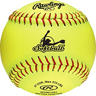 Rawlings Fastpitch Softballs, Yellow, 12 Inch, Collegiate and High School (Box of 6), RFPBP12SY-BOX6