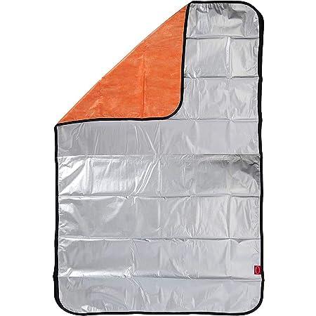 Basic Standard アルミ 毛布 4層 保温 ぽかぽか 静音 ブランケット 非常用 サバイバルシート アルミシート スペース暖シート 防寒 防災グッズ シルバー/オレンジ シングル