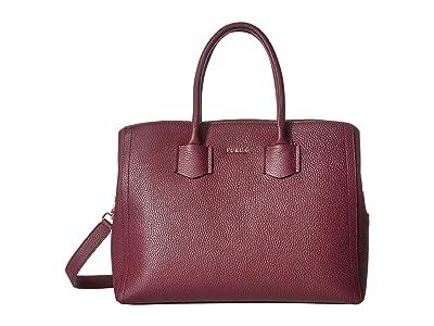 Furla Alba Medium Tote (Amaranto) Tote Handbags