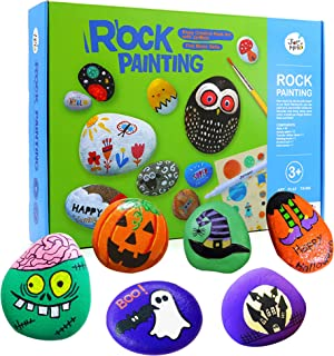 Jar Melo Rock Painting Kits for Kids Hide & Seek Rock Kits Crafts for Kids 12 Acrylic Paint and 10 Rocks Arts & Crafts Kit...