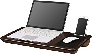 LapGear Home Office Lap Desk Extra Wide - Espresso Woodgrain (Fits up to 17