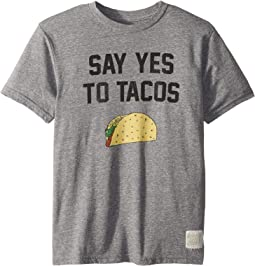 Say Yes To Tacos Short Sleeve Tri-Blend Tee (Big Kids)
