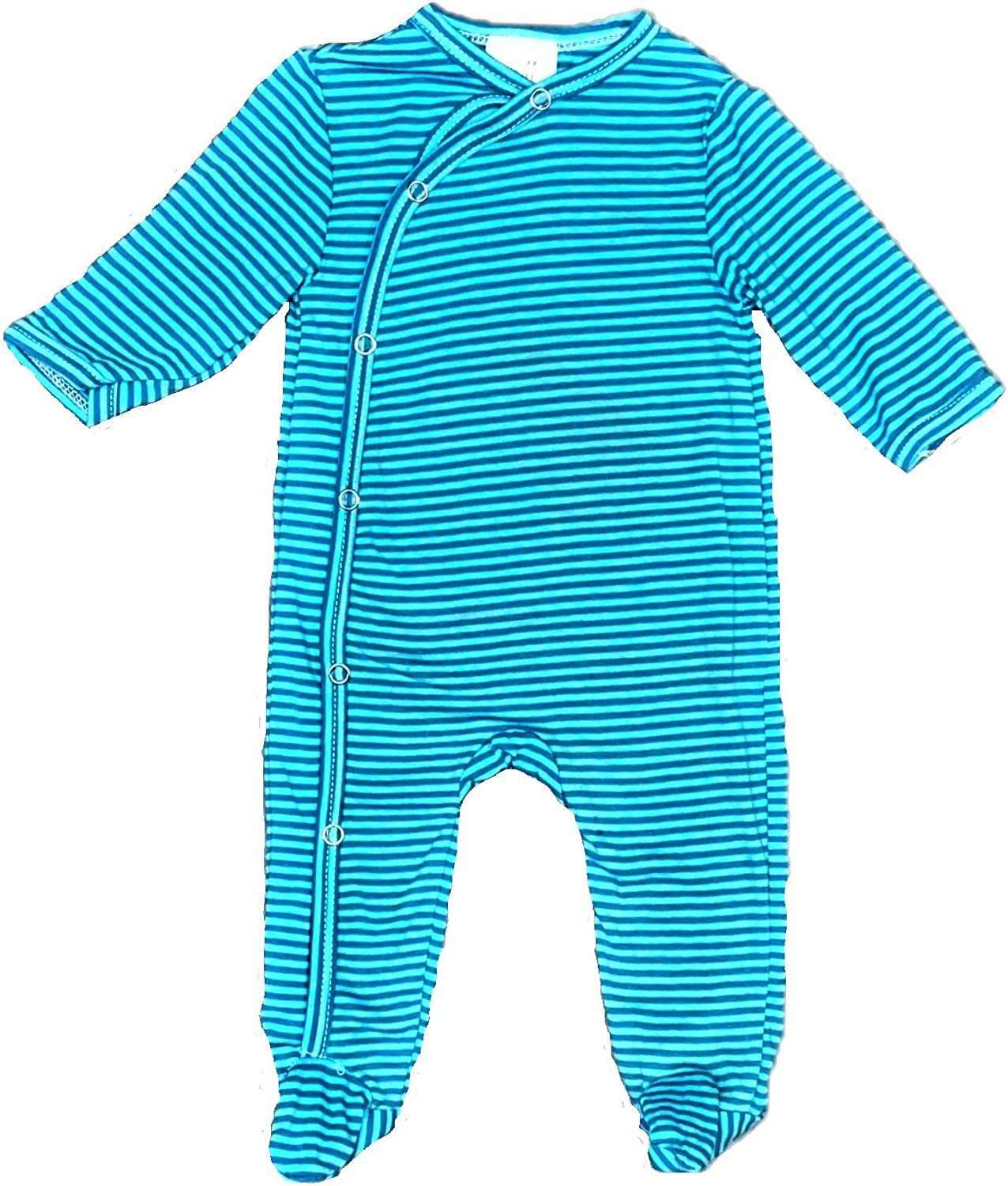 1-Piece Snug Fit Button up Newborn Footed Coveralls Closure Pajamas