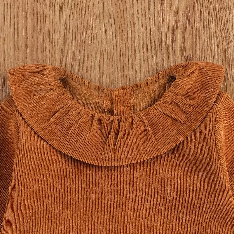 24 mois Geagodelia Barboteuse en velours c/ôtel/é pour b/éb/é couleur unie hiver pour fille manches longues chaude