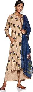 BIBA Women's Modal a-line Salwar Suit Set