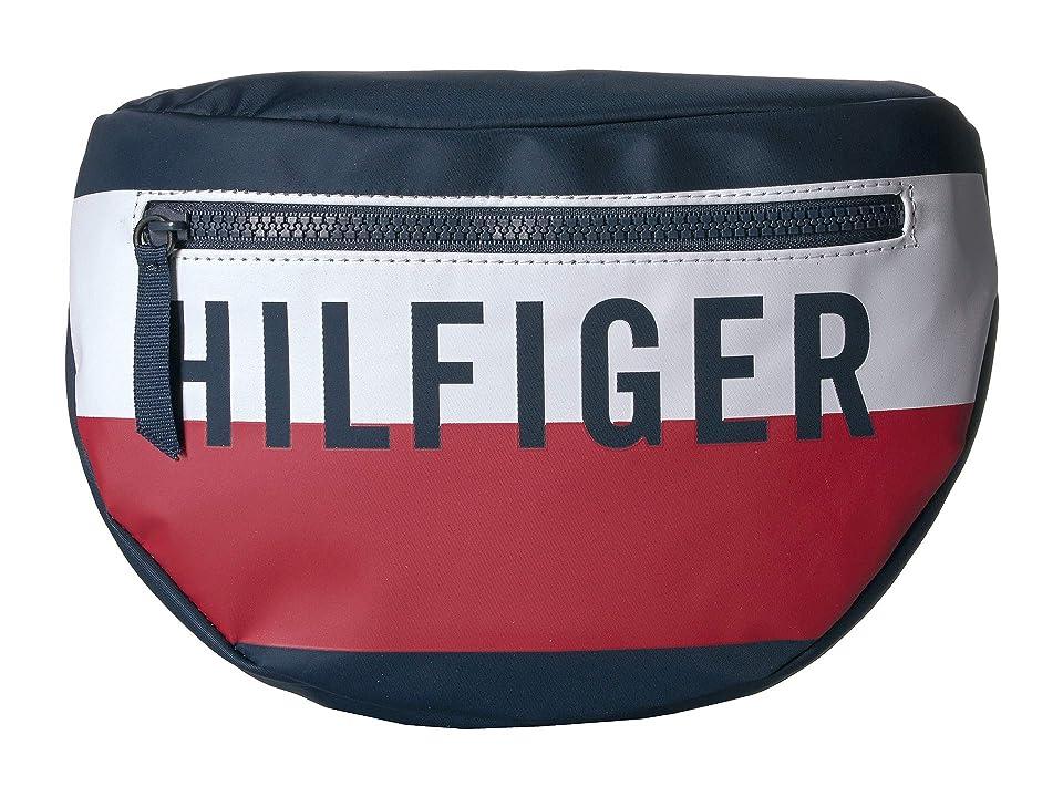 Tommy Hilfiger Keys Belt Bag (Navy/Red/White) Handbags, Blue
