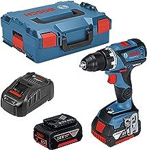 Bosch Professional 18V System GSR 18V-60 C - Atornillador a batería (60 Nm, Ø máx. tornillo 10 mm, conectable, 2 baterías x 5,0 Ah, en L-BOXX)