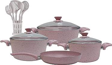 Regal In House - Turkish Granite cookware set 13 pcs with 6-pcs Service set - Pyrex glass lids