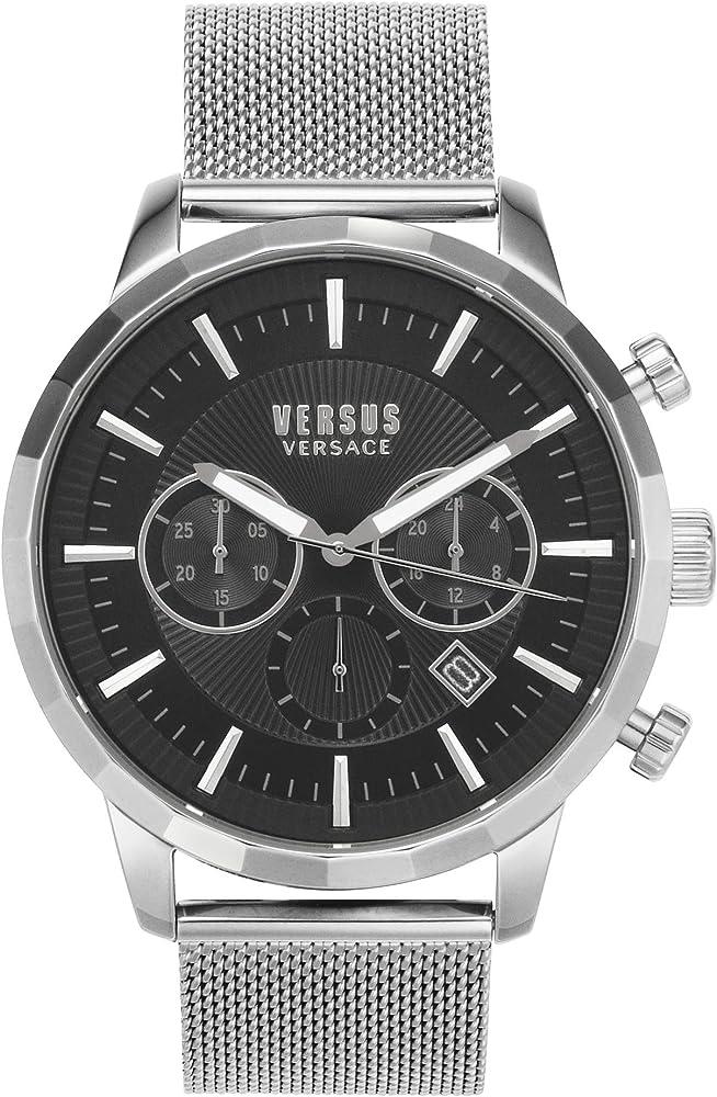 Versus versace orologio uomo cronografo cassa in acciaio