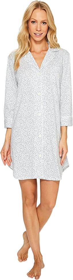 LAUREN Ralph Lauren - 3/4 Sleeve Knit Notch Collar Sleepshirt