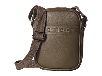 Ted Baker Bandz Debossed Mini Flight Bag (Olive) Carry on Luggage