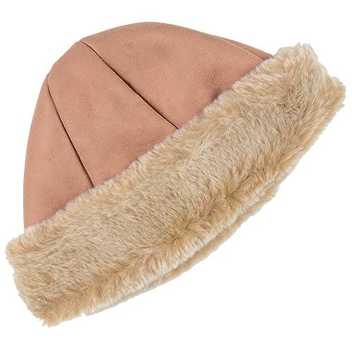 4d78d404431 Ladies Camel Cossack Hat Faux Sheepskin Faux Fur Trim   Lining Winter  Accessory
