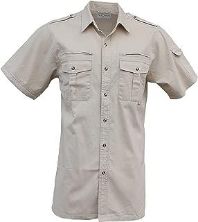 Foxfire Thunder River Gear Mens Short Sleeve Cotton Travel Safari Passport Shirt