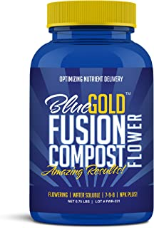 Blue Gold Fusion Compost Flowering NPK & Micronutrients, Living Biology Water Soluble Paste 0.75 lbs Concentrate