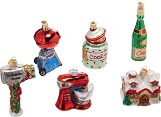 Old World Christmas Mini Ornamen Glass Blown Ornaments for Christmas Tree, Housewarming Set