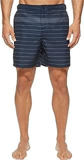 Men's Striped Fixed Volley Swim Short