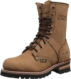 """AdTec Women's 9"""" Logger Brown Work Boot"""