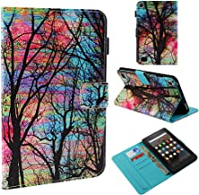 Fire 7 Case -TiKeDa Leather Smart Case Cover with Auto Wake/Sleep for Amazon Fire 7 Tablet (Only fit For Fire 7 2015/2017/2019 Release,5th/7th/9th Generation)