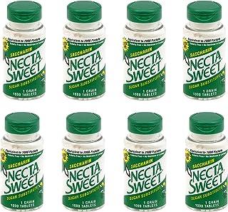 Necta Sweet 1-Grain Saccharin Tablets - Zero-Calorie Sugar Substitutes (8-Pack 1,000-Tablet Bottle)