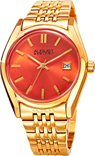 August Steiner Women's Quartz Stainless Steel Casual Watch, Color:Gold-Toned (Model: AS8235YGOR)