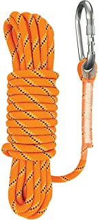 Sunzor Rock Climbing Rope   Outdoor Rope - 10mm Static Rope - Rappelling Rope - Rescue Rope - Safety Rope -Double OR Single Carabiner 33ft, 49ft, 66ft, 98ft, 164ft
