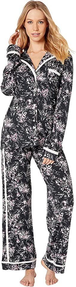 Bella Printed Amore Long Sleeve Top Pants PJ Set