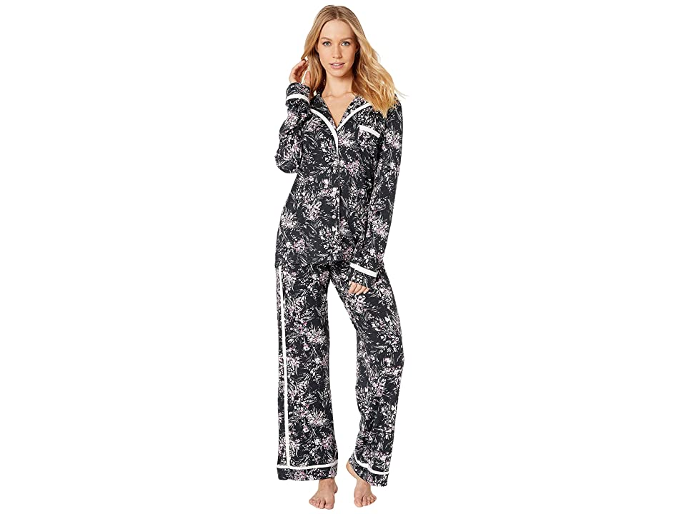 Cosabella Bella Printed Amore Long Sleeve Top Pants PJ Set (Flower Dance/Vanilla Dust) Women