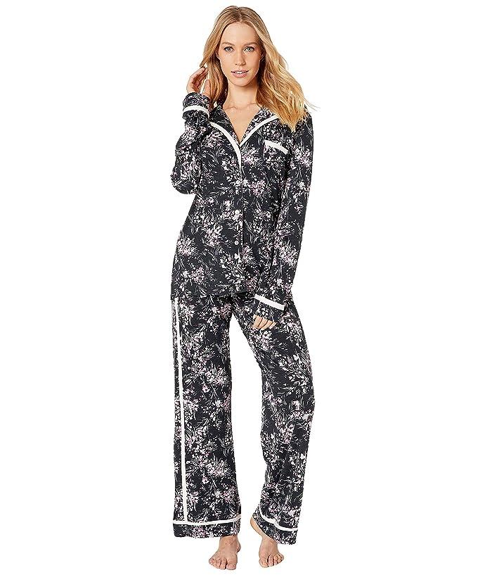 Cosabella Bella Printed Amore Long Sleeve Top Pants PJ Set (Flower Dance/Vanilla Dust) Women