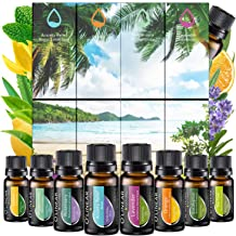 Essential Oils Set TOP 8 - Therapeutic Grade Aromatherapy Essential Oils - Pure and Natural - Lavender, Peppermint, Rosema...