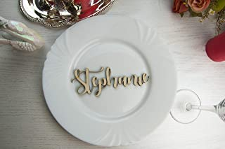15x Personalised CHRISTMAS TABLE SEATING NAME PLACE CARDS WHITE CARD DECORATIONS