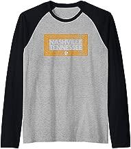 Orange Tennessee State Flag Design 615 Nashville Tennessee Raglan Baseball Tee