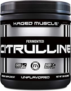 KAGED MUSCLE, Premium L-Citrulline Powder, Enhance Muscle Pumps, Improve Muscle Vascularity, Nitric Oxide Booster, Citrull...