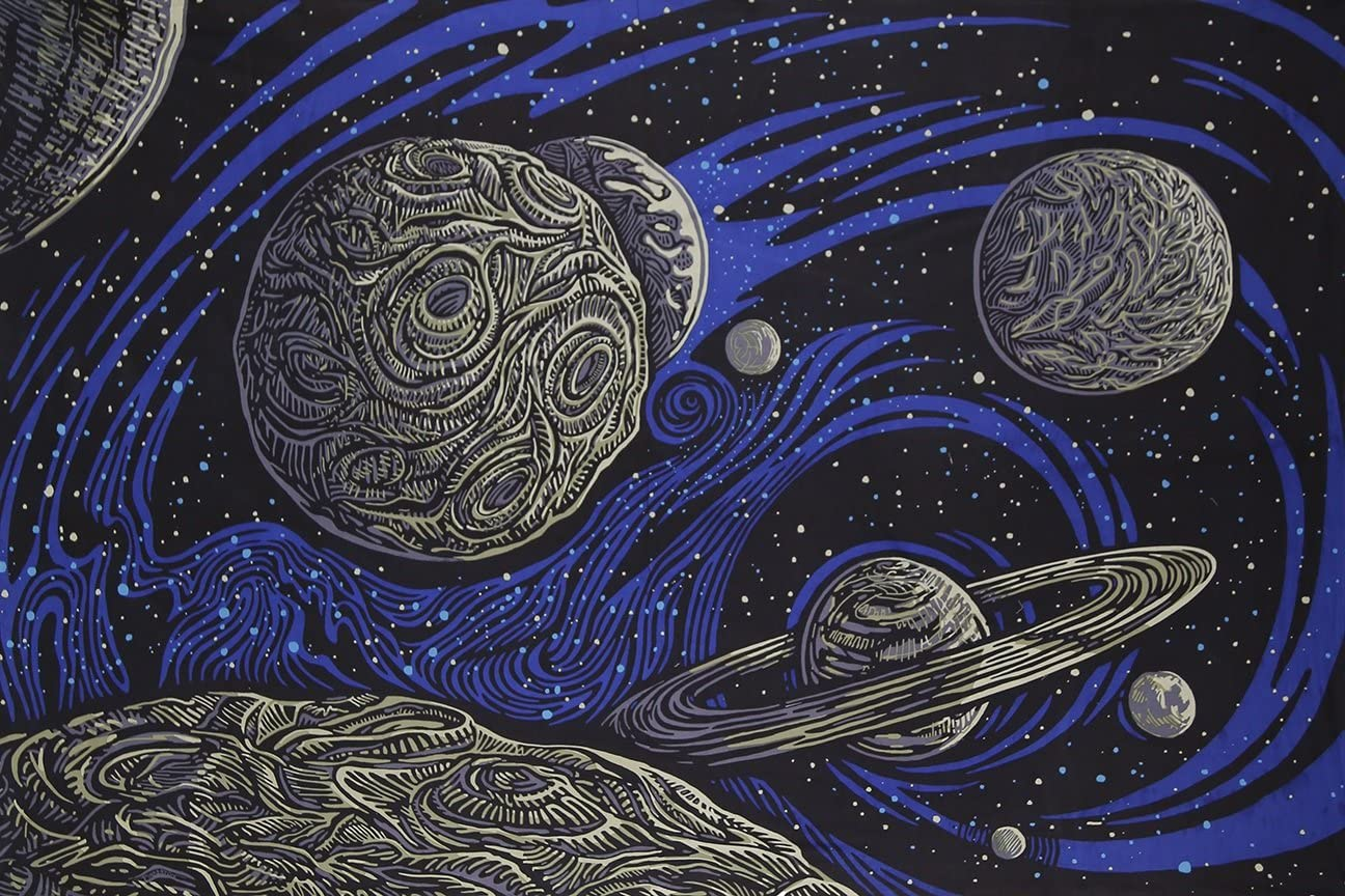 Sunshine Joy 3D Galactic Outer Art Space Tapestr Our Genuine shop most popular Psych Planetary