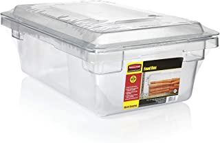 Rubbermaid Commercial Products 1815321 Food/Tote Box Storage Container with Lid, Plastic, Clear (Container and Lid)