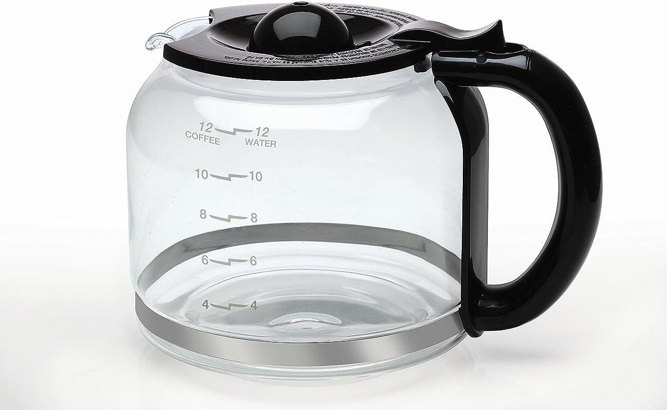 Capresso 4427 01 Glass Carafe 12 Cup Black
