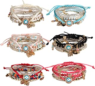 Sponsored Ad - Bohemian Boho Stackable Bracelets for Women Set, Girls Stretch Multilayer Stack Beads Colorful Beaded Charm...