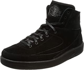 Nike Jordan Men's Retro 2 Decon Basketball Shoes Black/Black