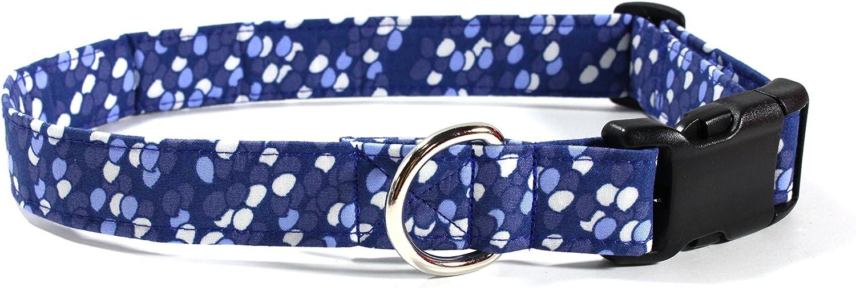 Ruff Roxy Bubbly, Designer Cotton Dog Collar, Adjustable Handmade Fabric Collars (L)