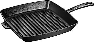 Staub 40501-107-0 - Sartén parrilla (hierro fundido, apta para inducción, 30 cm), color negro