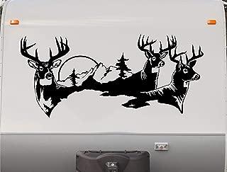 Deer Buck RV Camper Trailer Camping Stripe Decal Sticker Graphic Mural DD1001