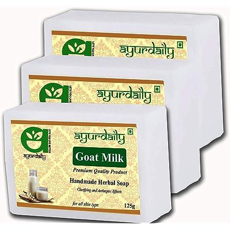 Ayurdaily Goat Milk Soap - 125g Pack of 3