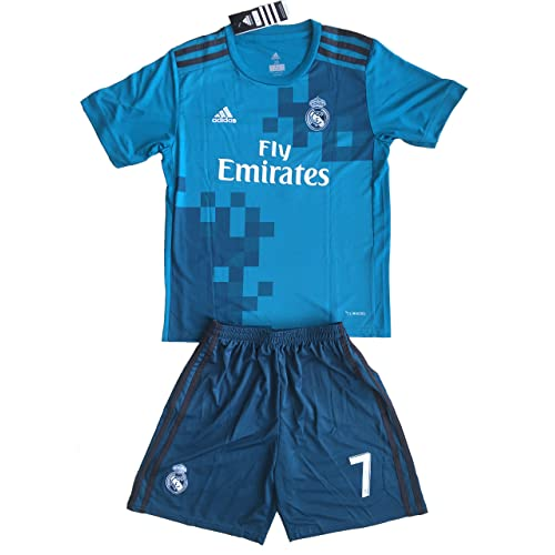2017 18 Real Madrid Ronaldo  7 Third Youths Football Soccer Kids Jersey    Short 60713cef9