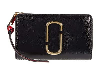 Marc Jacobs Snapshot Compact Wallet (Black/Chianti) Wallet Handbags