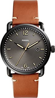 Fossil Men's Commuter Stainless Steel and Leather Casual...
