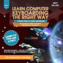 Typing for Kids Course - Learn to Type Computer Keyboarding Adventure Video Game (Ages 6+) - Better than Books, Tutor Lessons, or Instructor Program (PC & MAC) by SimplySTEM