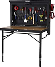 Lifetime Products Wall Mounted Work Table, 4', Wood Varnish