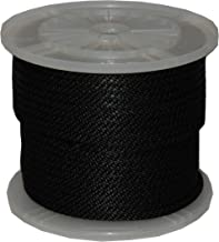 T.W Evans Cordage 98018 5/8-Inch by 200-Feet Solid Braid Propylene Multifilament Derby Rope, Black